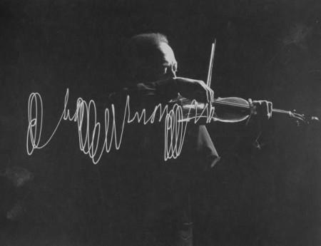 Jascha Heifetz by Gjorn Mili
